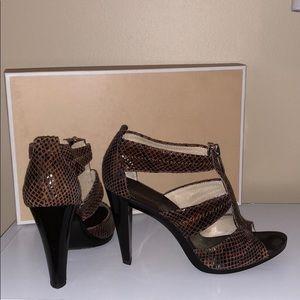 WORN ONCE | Michael Kors Embossed Leather Heels